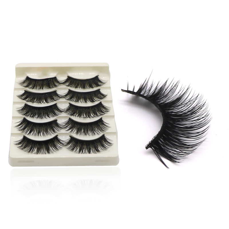 25Pairs Natural Long Cross False Eyelashes Soft Fake Eye Lashes Voluminous Makeup Extension Fake Eyelashes For Building Wimpern