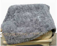 CX D 30 S Sofa Blanket Custom Made Patchwork Rabbit Fur Cover Rabbit Fur Throw Blanket Mat Area Rug