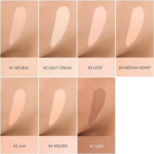 FOCALLURE Eye Concealer Base Colors Full Coverage Suit for All Color Skin Face Eye Makeup