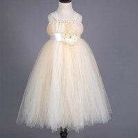 Neue Blumenmädchen Kleid Baby Hochzeit Brautjungfer TuTu Kleid Handgemachte Spitze Tüll Prinzessin Mädchen Formelle kleidung Kinder Partei Pageant Kleid