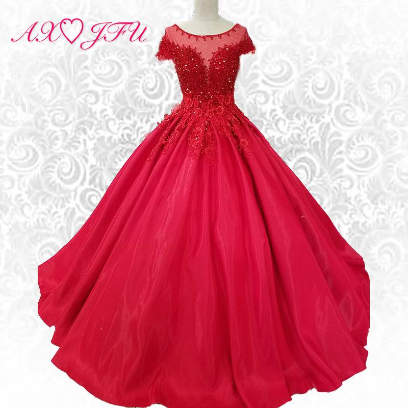 Aliexpress.com : Buy AXJFU Luxury New Korean Lace Red