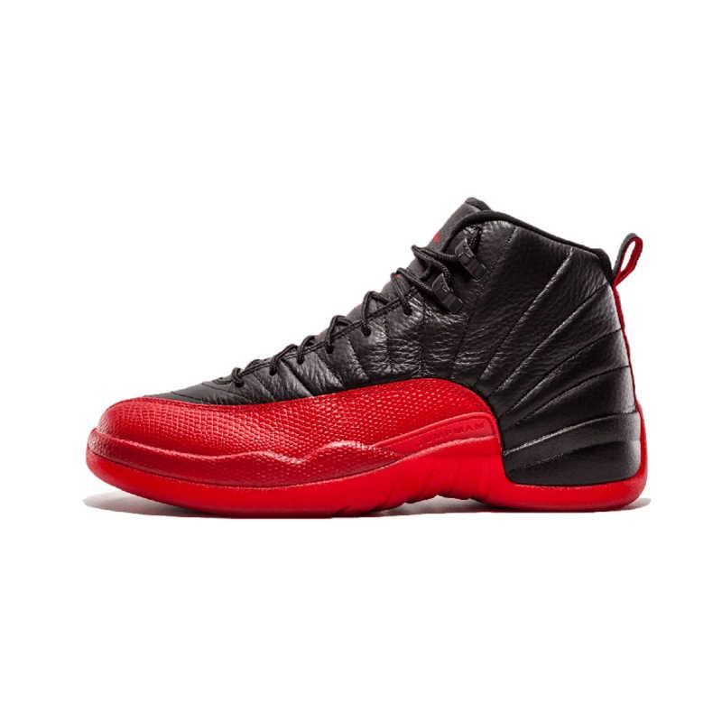 designer fashion ddccd dd899 Jordan Retro 12 Gym red Basketball shoes Bulls Michigan University blue  College ovo white Dark Grey men Sport Sneakers
