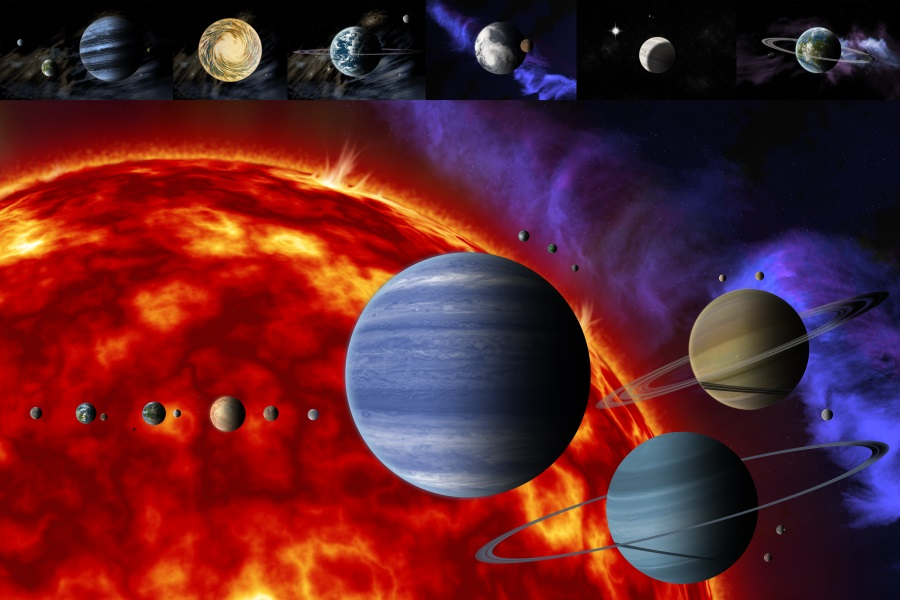 Custom Planet Earth Poster Solar System Wall Stickers Sun