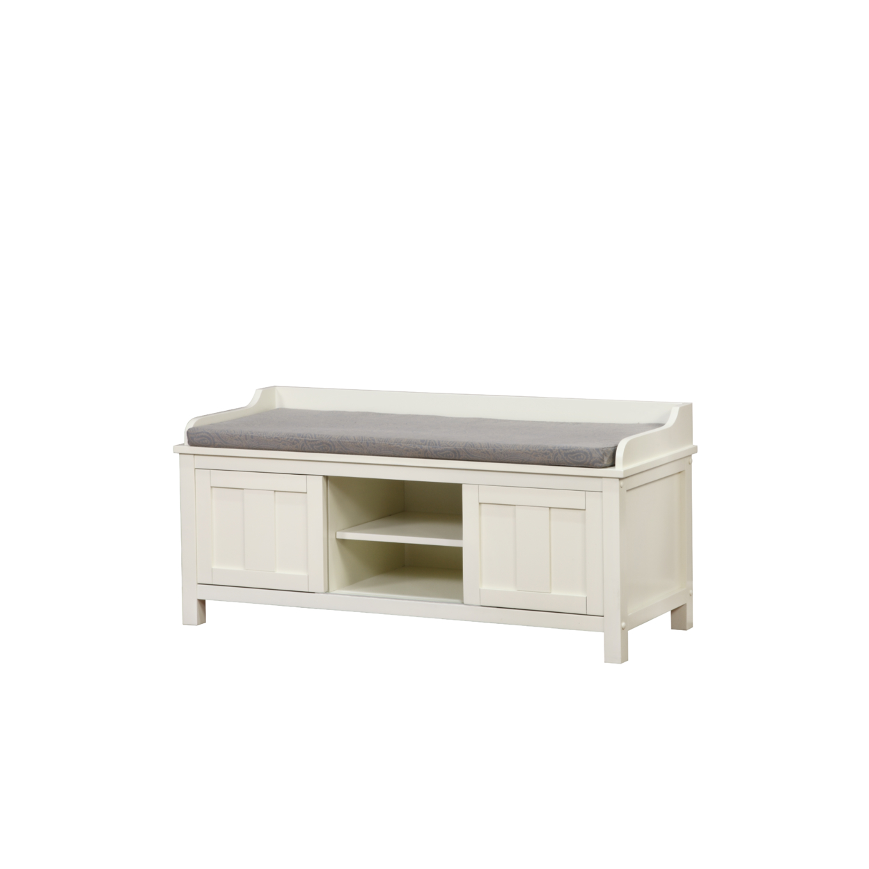 Lakeville White Storage Bench guidecraft classic white storage bench