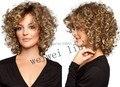 Новый Короткие Вьющиеся волосы парик для Женщин Синтетический парик Моды бесплатная доставка