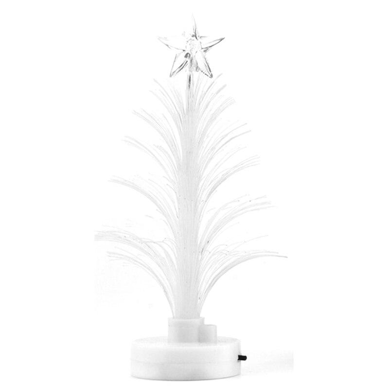 Christmas Tree Fiber Optic Lights: Colorful LED Fiber Optic Nightlight Decoration Light Lamp