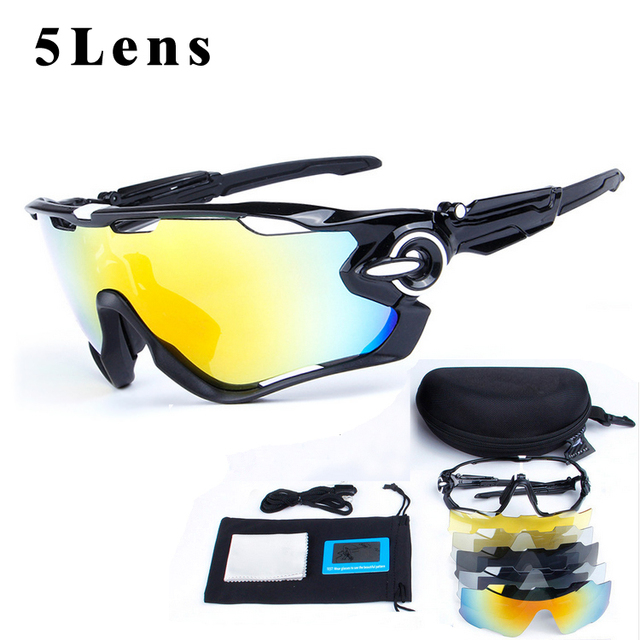 ef7744e79c1 OBAOLAY Polarized MTB Bicycle Eyewear Ciclismo Cycling Glasses Mans  Mountain Bike Sport Goggles SunGlasses with 5Lens
