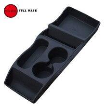 1 шт. черный силиконовый Тесла центре вставить консоли складское Box Организатор настроены для Тесла модель s салона Аксессуары