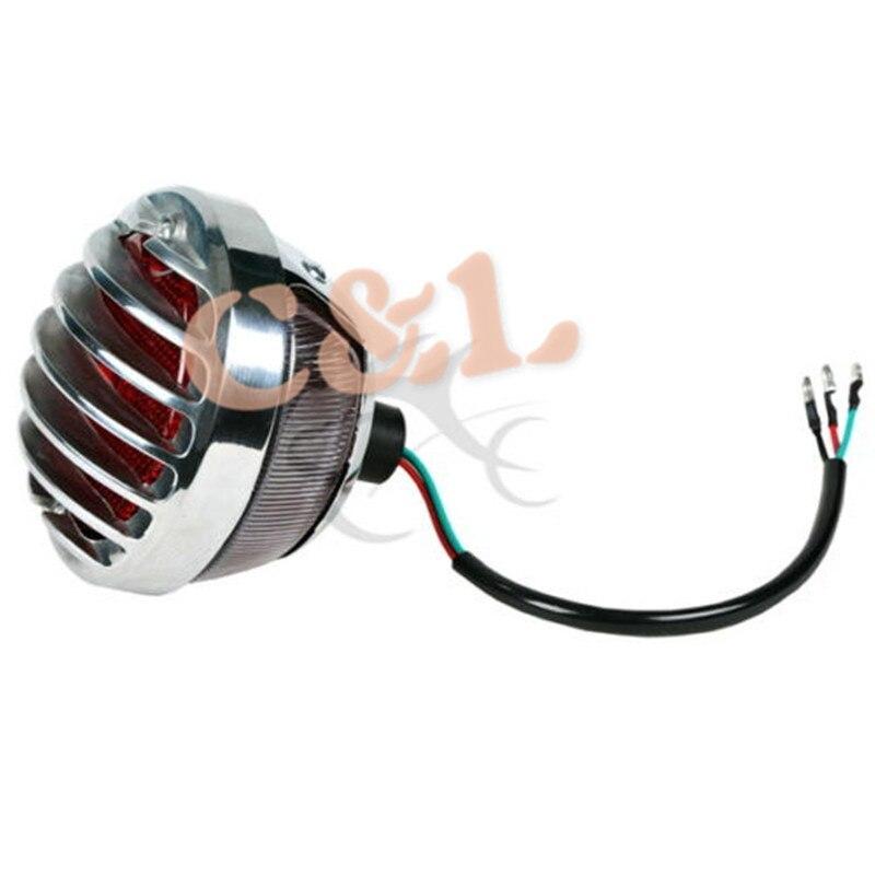 Мотоцикл хромированный круглый задний стоп-сигнал, пригодный для Harley Bobber Chopper Rat Custom