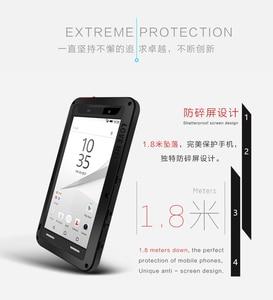 Image 4 - Für Sony Xperia Z5 Premium Liebe Mei Stoßfest Metall Aluminium Fall abdeckung Für Xperia Z5 Kompakte Drei proofing liebe mei telefon