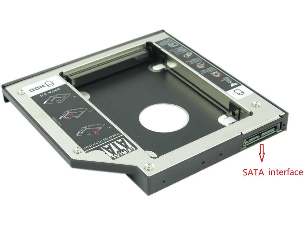 WZSM NEUE 12,7mm SATA 2nd SSD HDD Caddy für Acer Aspire 6930 6935g 5740dg 7535g 7551g 7560 7560g 7741zg Festplatte Caddy