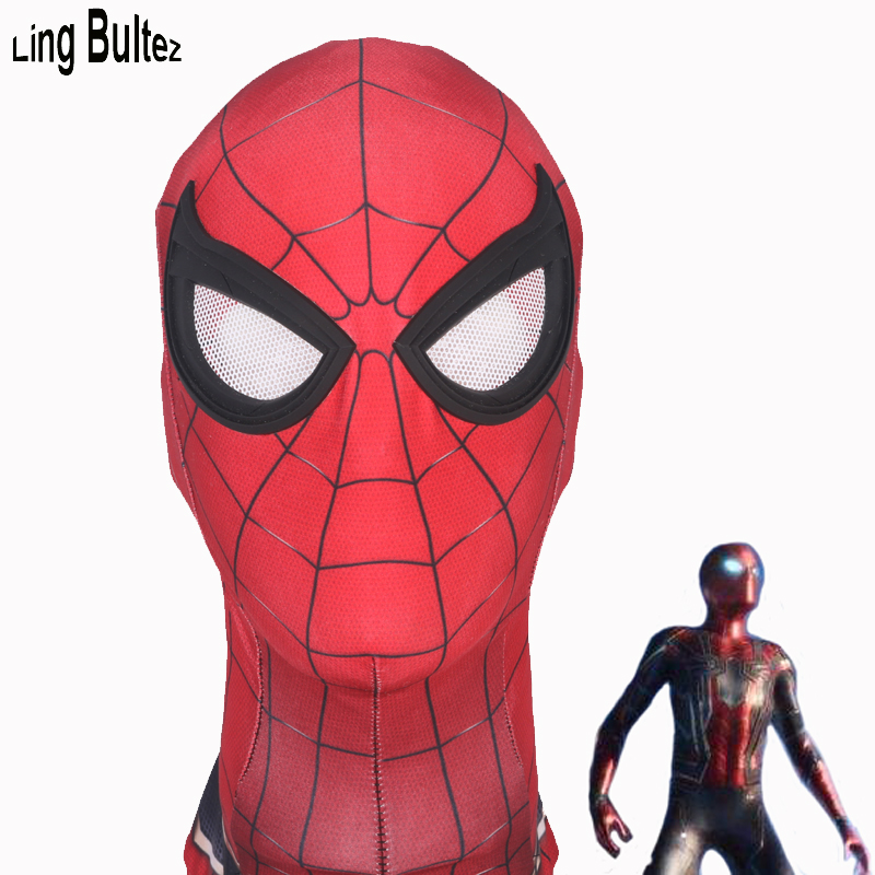 Ling Bultez High Quality Spiderman Homecoming Mask Iron Spider Mask Avengers Spiderman Mask Newest Spiderman Facemask