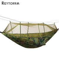 Outdoor Hammock With Mosquito Net Can Hold 300kg Super Strong Hanging Hamak For Hiking Climbing Travel