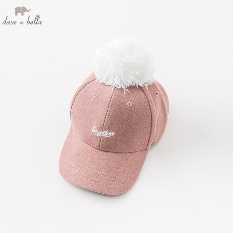 DBK8749 dave bella autumn kids girls hat baby cute hat children baseball cap недорго, оригинальная цена