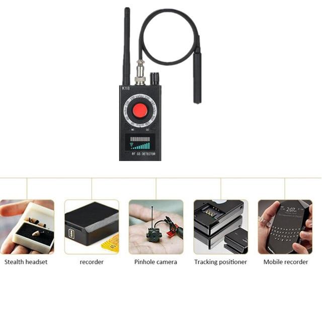 K18 Multi-função de Câmera GSM Áudio Bug Anti-spy Detector Lente RF  Rastreador 9dcb28027d