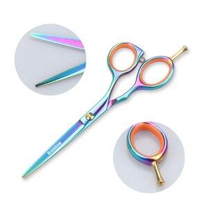 Image 2 - Brainbow 2 sztuk/zestaw 5.5 multi color nożyczki do włosów prawa ręka wycinanie usuwanie fryzjerskie nożyczki Pro Salon narzędzia do stylizacji włosów