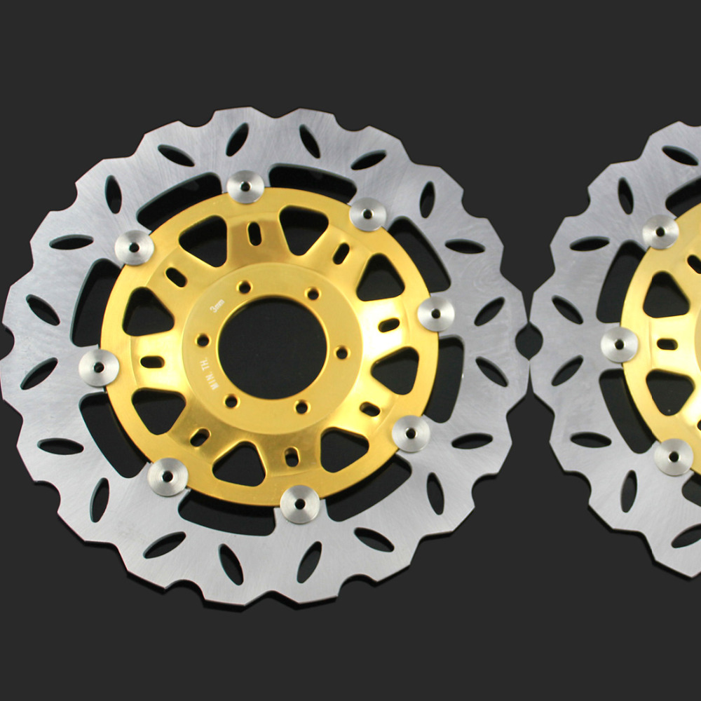 цены  Free shipping Motorcycle Modified flower Front Brake Disc Rotor for Honda CBR250 MC22 NSR250 P3 P4 MC18 MC21