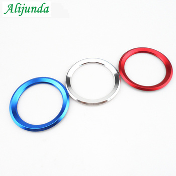 1Pcs Aluminum Alloy Car Steering Wheel Center Decoration Ring For logo Cover For BMW 1 3 4 5 7 Series M3 M5 GT3 GT5 X1 X3 X5 X6 image