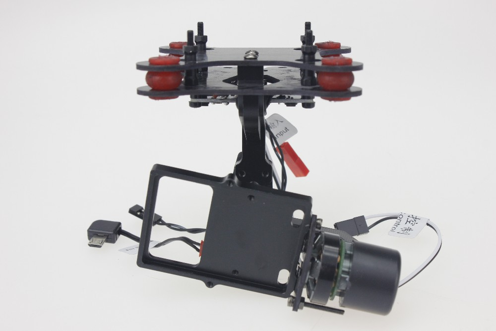 F11650 SJ2D 2-Axle Camera Brushless Gimbal Mount for SJ4000 SJ5000 Gopro Hero 3 4 DIY FPV Drone S550 Tarot 650 Phantom tarot t 2d brushless gimbal camera ptz mount fpv rack tl68a08 for gopro hero 3 rc multicopter drone aerial photography f09990