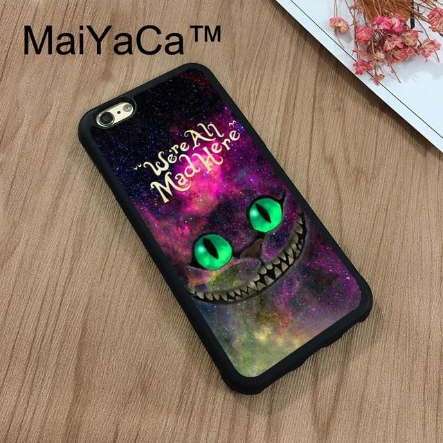 MaiYaCa Cheshire chat Alice au pays des merveilles pour iPhone 8 Coque souple TPU Coque en 640x640