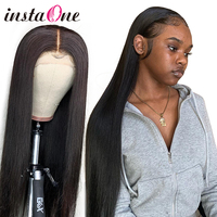 28 30 inch 360 Lace Frontal Wig 250 Density Brazilian Straight Lace Front Wig Pre Plucked Human Hair Virgin Wigs For Black Women