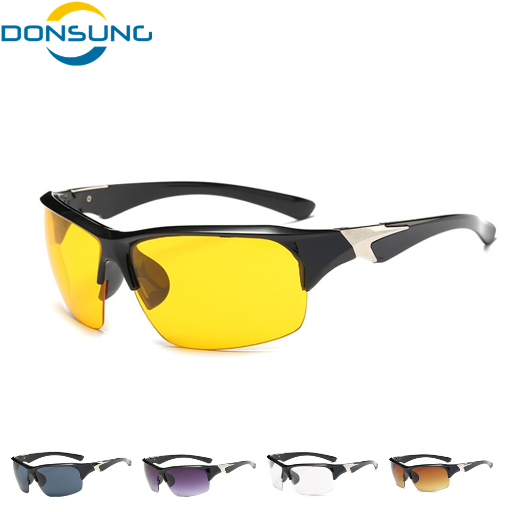 DONSUNG Unisex Night Vision Glasses for Driving Cycling Sports Bike Sun Glasses Eyewear Goggle Sunglasses oculos ciclismo