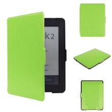 Caso de la cubierta de cuero en folio de la PU funda de cuero protectora para 2015 nueva llegada lector de libro de bolsillo 1 envío gratis
