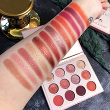 Brand Cosmetic Waterproof 12 Color Eyeshadow Pallete Shimmer Matte Pigmented Diamond Glitter Palette Makeup