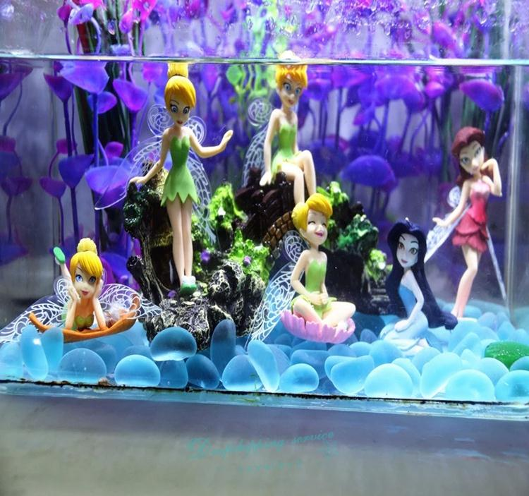 Online Shop New Six Flower Fairy Fish Tank Aquarium Grass Planted Mini Toy  Flower Pretty Doll Ornament Fish Tank Decoration 2016 New | Aliexpress  Mobile