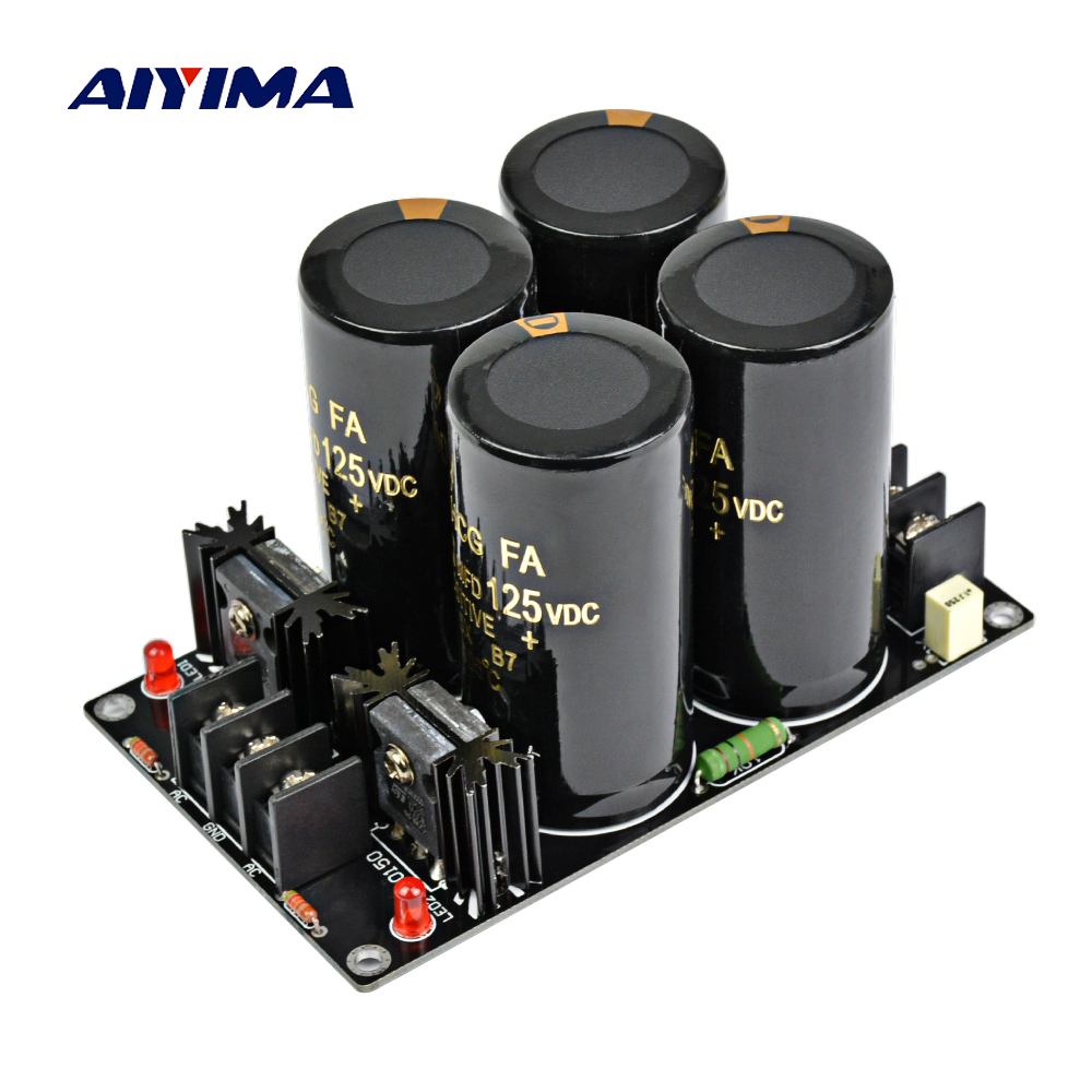 Aiyima 120A Amplifier Rectifier Filter Supply Power Board High Power Schottky Rectifier Filter Power Supply Board 10000uf 125V 12 10000uf 63v rectifier filter power supply board speaker protection for dartzeel amplifier diy kit