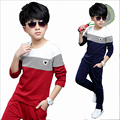 Boy spring sets kids 2016 child fashionable sport suit for  Big boy autumn long-sleeved casual two-piece outfit teenage costume