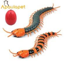 Игрушка для собак APAULAPET, электрическая игрушка на радиоуправлении, многоножка, поддельное насекомое, пульт дистанционного управления, многоножка, креативная электрическая хитрая забавная игрушка для кошек