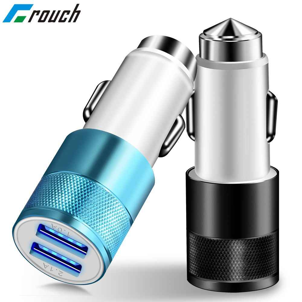 Crouch 2 USB Output Car Charger 2.1A max(Real) Fast Charge For iPhone X 8 8 plus 6s For Samsung Galaxy s8 s8+ Note 8 Tablet