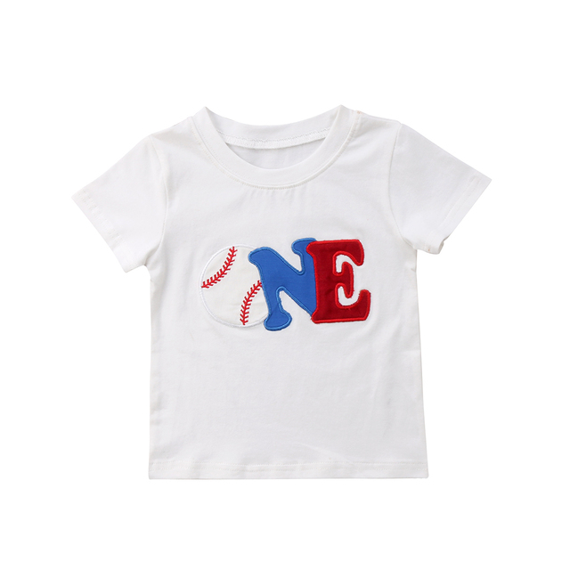 c7b957262b77 Pudcoco 2018 New Baby Boys Girls Birthday T shirts Summer Short Sleeves  Cotton Tee Baby clothing