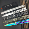 BKC 30 Stainless Steel Knife Butterfly Training Knife Butterfly Knife Balisong Knife Free Shipping