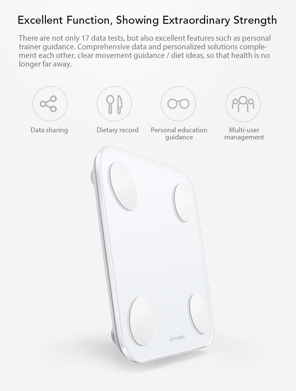 Xiaomi YUNMAI Fat Scale Mini 2 Balance Smart Body Fat Scale Smart Data Analysis APP Control Digital Weighing Tool Xiomi Xaomi (4)