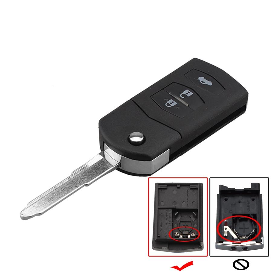 3 Button Remote Flip Key Shell Case For MAZDA 2 3 5 2003 2004 2005 20006 2007 2008 20009 2010 2011 2012 2013 Folding Car Key Fob