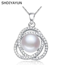 SHDIYAYUN Fine Pearl Necklace 3 Colors Natural Pearl Pendant 925 Sterling Silver Pearl Jewelry For Women Gift Diamond Necklace nymph seawater pearl bracelets fine jewelry near round natural pearl bangles for women gold trendy anniversary gift [s308]