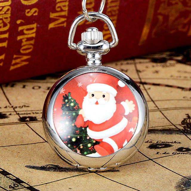Moment # N03 DROPSHIP relogio 2018 Christmas Vintage Style Pocket Chain Necklace