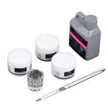 High Quality Portable Nail Art Tool Kit Set Crystal Powder Acrylic Liquid Dappen Dish 6 Pcs Set & Kit Nail Art Tool