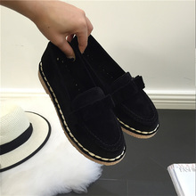 AD AcolorDay 2017 Bowtie Suede Women Shoes Causal Vintage Boat Shoes Women Slip on Black Women