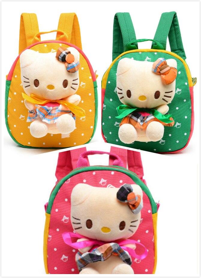 Kawaii рисунок «Hello Kitty» Cat Рюкзак ребенка Обувь для девочек плюшевые для детского  ...