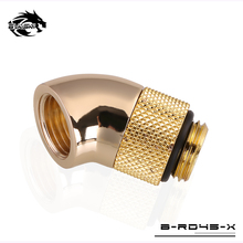 "BYKSKI Black Glod Silver G1/4"" thread 45 degree Rotary Fitting Adapter Rotating 45 degrees water cooling Adaptors B-RD45-X"