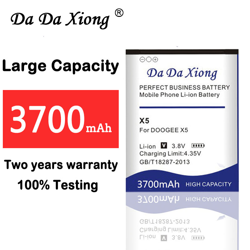Mobile Phone Batteries Da Da Xiong 3700mah Doogee X5 Battery For Doogee X5 Doogee X5s Doogee X5 Pro Battery Distinctive For Its Traditional Properties
