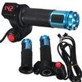 24V 36V 48V Universal E-Bike Electric Scooter Throttle Handlebar Hand Grips Digital Meter