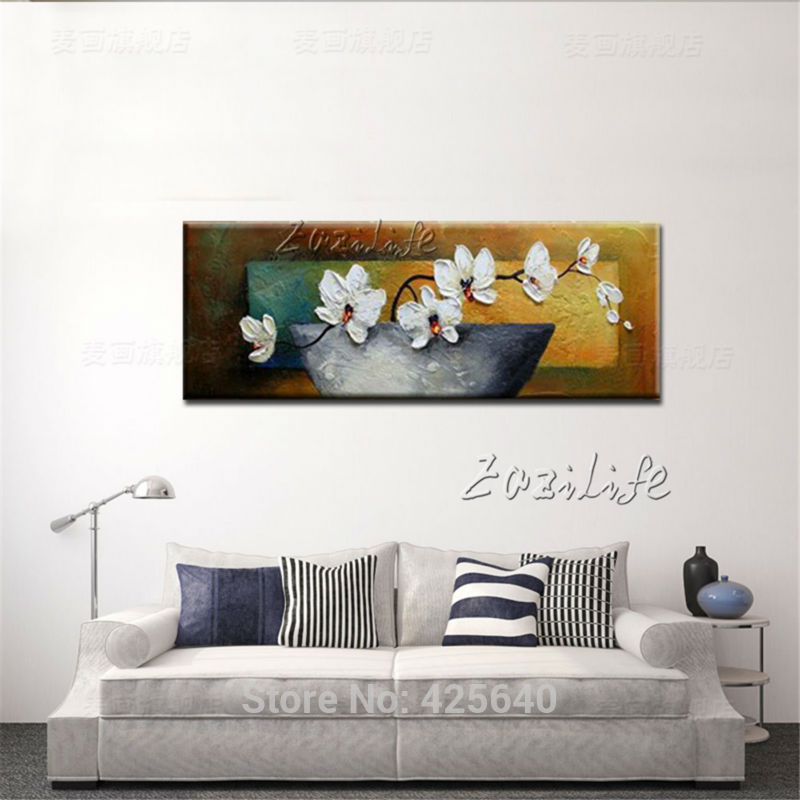 Картина маслом Морден абстрактный цветок настенная живопись на холсте Ручная роспись 3