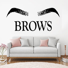 Eyebrows Brows Beauty Salon Decals Eyelashes Lashes Extensions Vinyl  Wall Stickers Quote Wall Decal Make Up Window Decor F894 art wall sticker lashes salon eyelashes decor vinyl removeable beauty salon decoration make up extensions eyebrows decal ly265