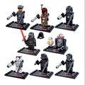 8 pçs/lote Star Wars 7 A Força Desperta Kylo Ren BB-8 Modelos de Ação Brinquedos Blocos de Construção Presente de Aniversário para Crianças