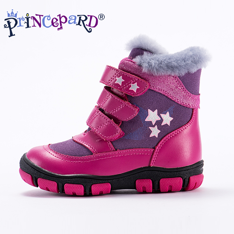 Princeprd 2018 new winter childrens orthopedic shoes for girls boys genuine leather orhopedic boots kids for 100% natural fur Princeprd 2018 new winter childrens orthopedic shoes for girls boys genuine leather orhopedic boots kids for 100% natural fur