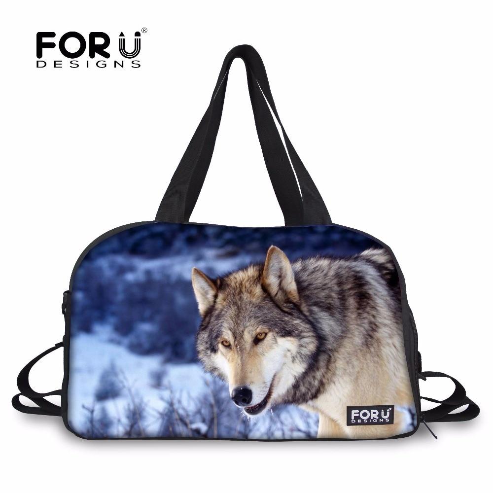 6afc1852297b FORUDESIGNS Mens Sports Gym Bag Fitness Training Bag 3D Cool Wolf Printing  Yoga Mat Handbag Large Tote Shoes Pocket Shoulder Bag